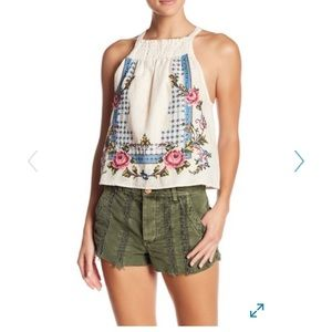 NWT Free People Embroidery Tank Top.